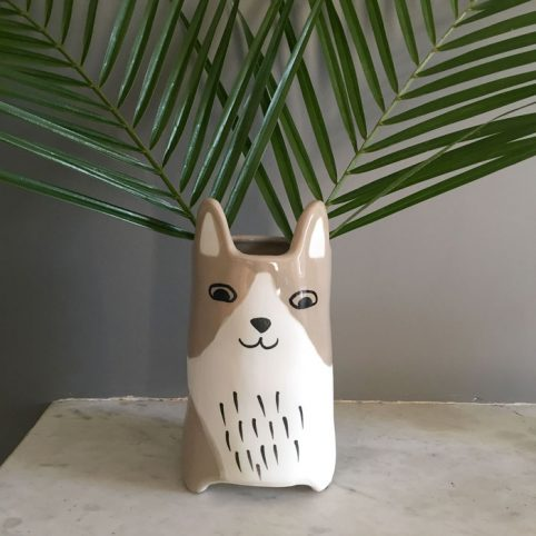 Animal Flower Vase - Beige Cat Buy Online UK