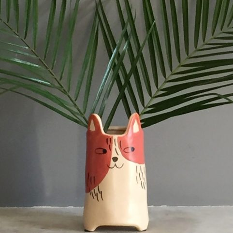 Ginger Cat Vase - Buy Online UK