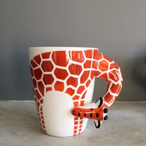 Giraffe Mugs - Animal Porcelain Mugs UK
