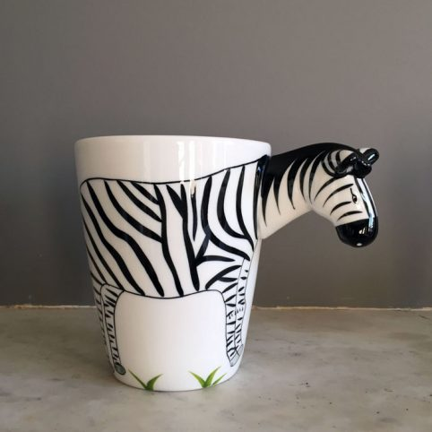 Porcelain Zebra Mug - Buy Online UK
