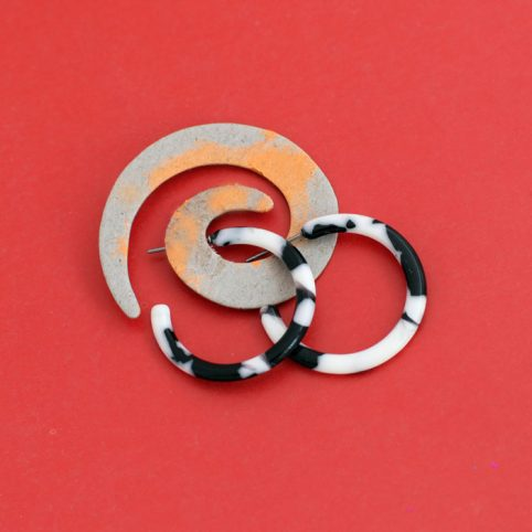 Black and White Small Resin Hoops Buy Online UK