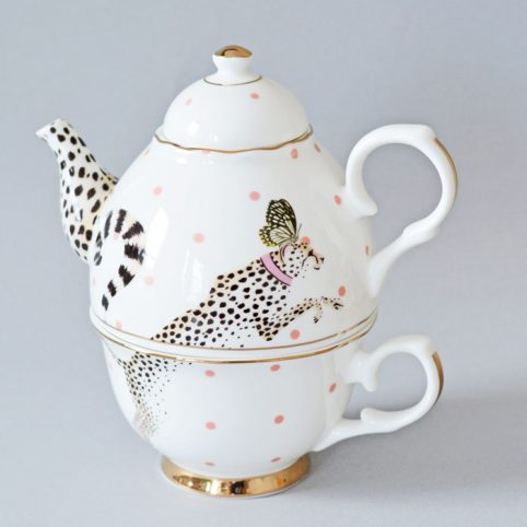 Cheetah Teapot Yvonne Ellen - For Sale UK