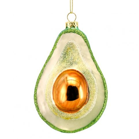 Avocado Sparkly Christmas Decoration - Buy Online UK