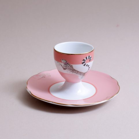 Cheetah Egg Cup & Saucer - Buy Online UK