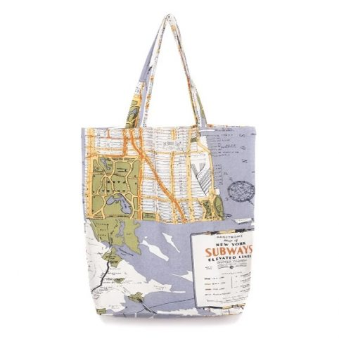 New York Map Print Eco Bag - Buy Online UK