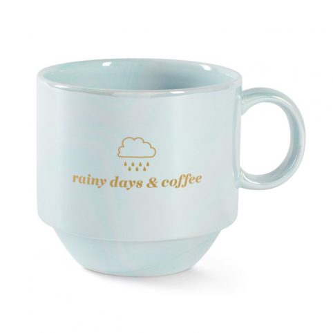 Pastel Green Rainy Days and Coffee Mug - Buy Online UK