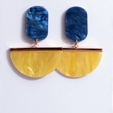 Resin Geometric Statement Earrings - Buy Online UK