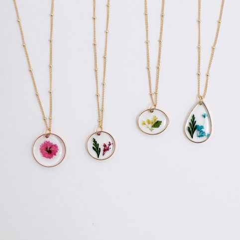 Pressed Flower Necklace Purchase Online With Free UK Delivery