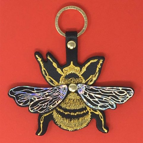 Bee Leather Keyring Buy Online UK