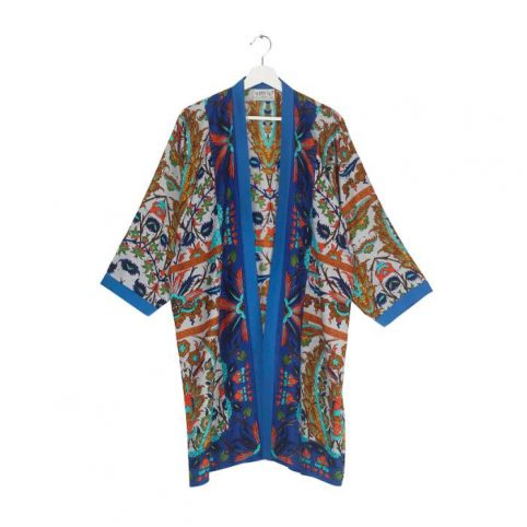 Collar Kimono One Hundred Stars In Decadent Blue Buy Online UK