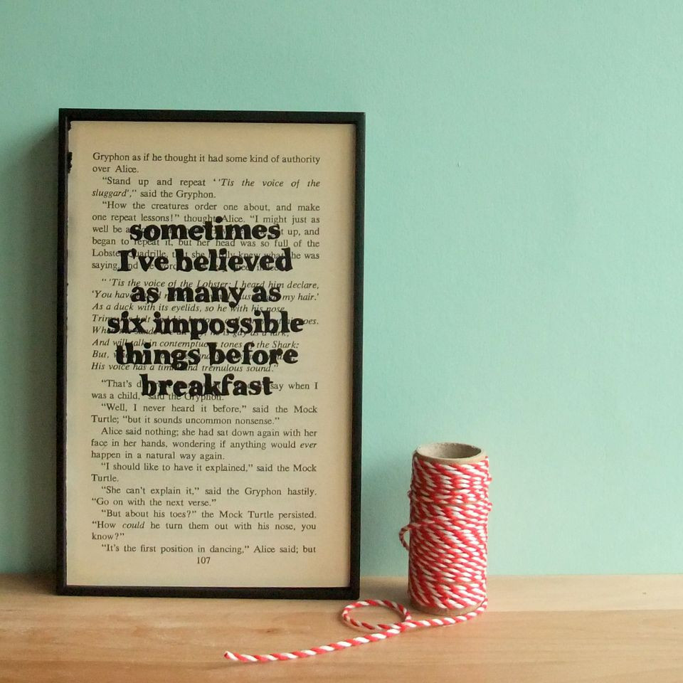 Alice In Wonderland Art Prints by Bookishly, to buy online from our London gift boutiques, UK