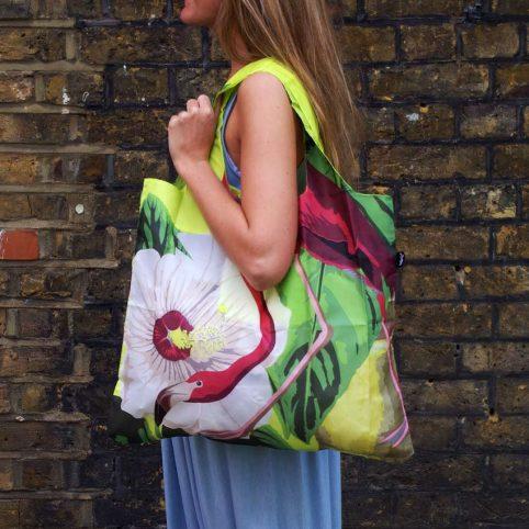 Eco-friendly Flamingo Eco Bag by Loqi with a Flamingo detailing