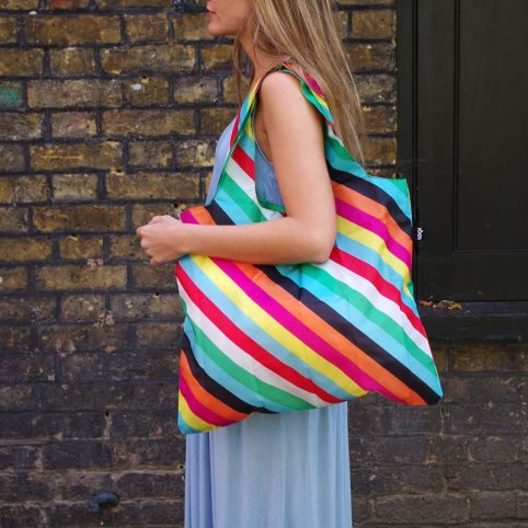 Eco Bag in Funky Stripes by Loqi