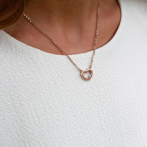 Elegant Rose gold Heart Necklace by Swedish Edbald