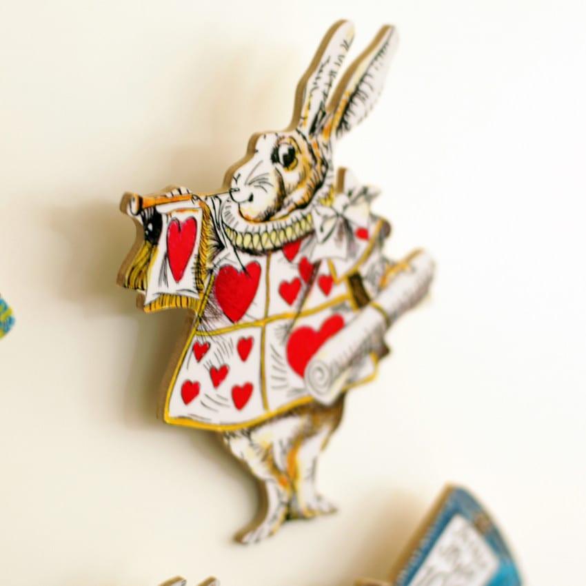 The White Rabbit From Alice in Wonderland Fridge Magnets, buy online UK