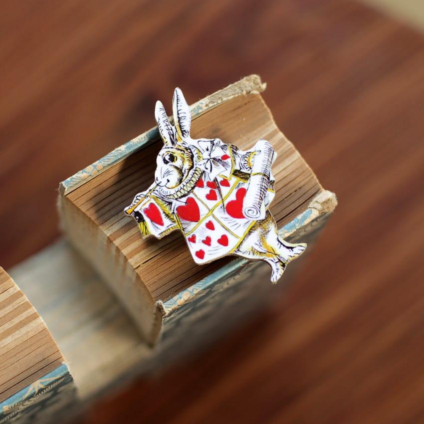 The White Rabbit from Alice in Wonderland - Badge to buy online, London UK