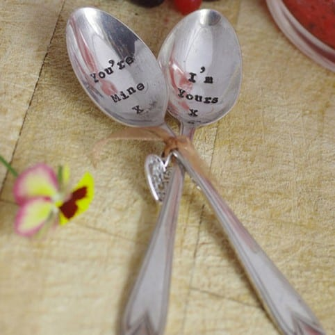 La de da Spoons! 'You're Mine I'm Yours' set of two Vintage Teaspoons