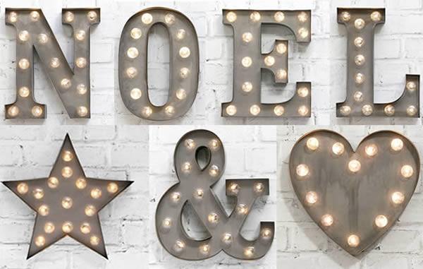 Carnival Lights Letters from Source Lifestyle to buy online, London UK