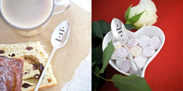 La de da Silverplated Cutlery with romantic sayings