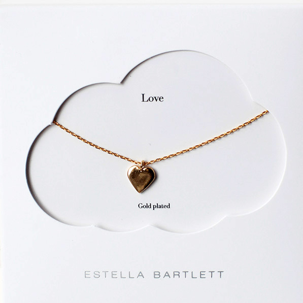 Estella Bartlett Heart necklace - gold plated buy online, UK