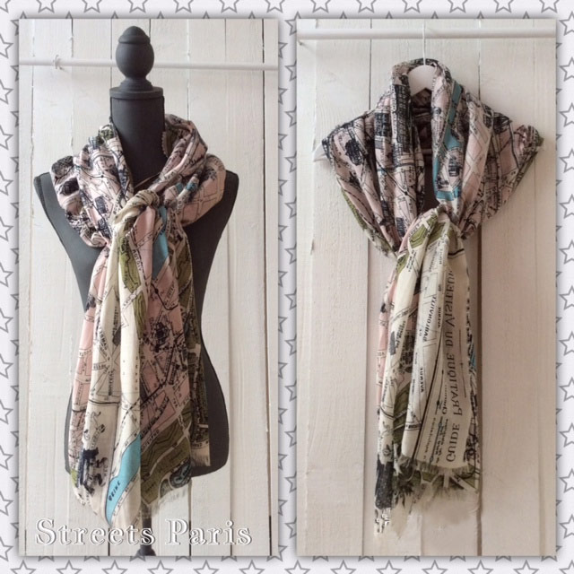 Map scarves by One Hundred Stars to buy online UK