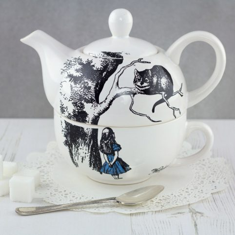 Alice In Wonderland and The Cheshire Cat teapot, tea for one, buy online, London UK