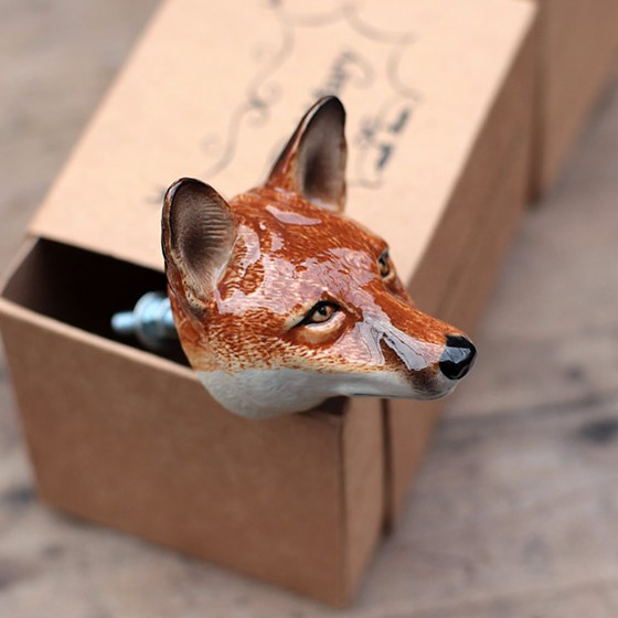 Fox Door Knob from the Animal Door Knob Collection by And Mary