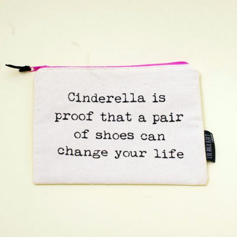 Cinderella Canvas Pouch - Lola & Gilbert Make up Bags