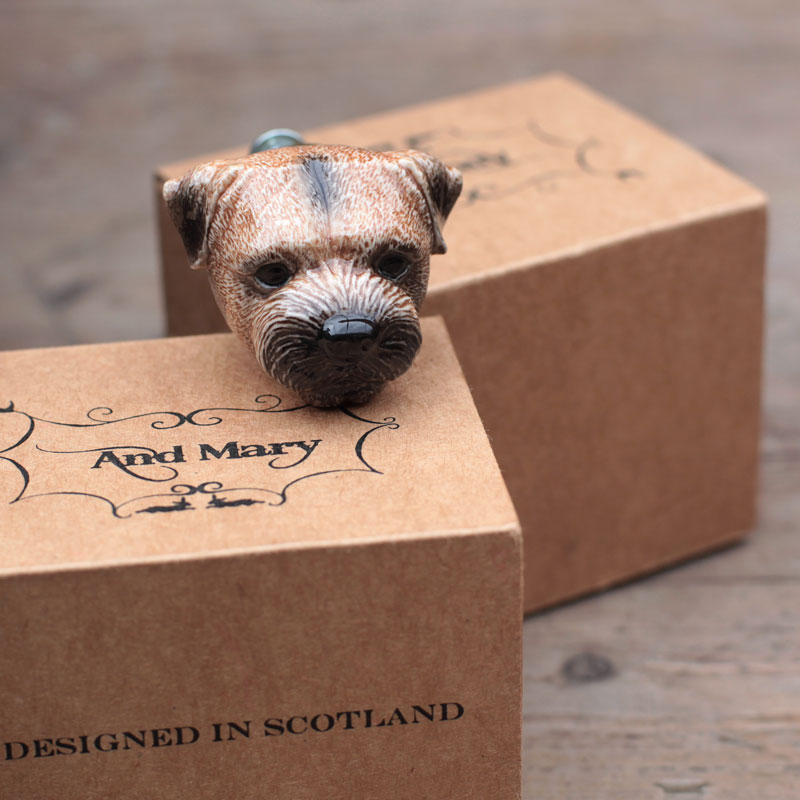 Animal door knobs by And Mary, Border Terrier - to buy online UK