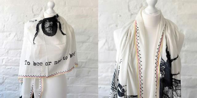 One Hundred Stars scarves - Bee scarf design, buy online UK