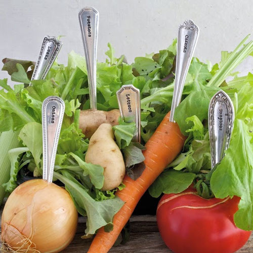 Silver Plated Veggie Markers by La de da - Gardening Accessories For Sale Online UK