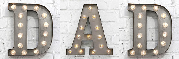 Father's Day Gifts - Carnival Letters