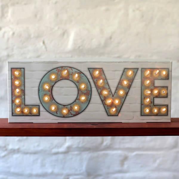 Love Light Sign with LED Lights for sale online UK