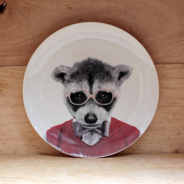 Raccoon Party Animal Plate
