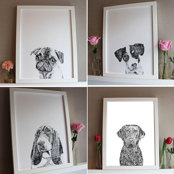 Ros Shiers Dog Prints