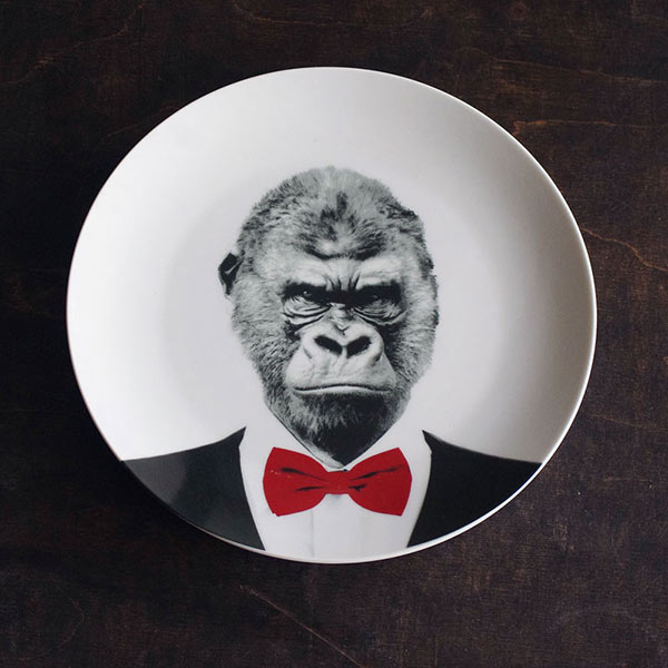 Wild Dining Plate Garry the Gorilla