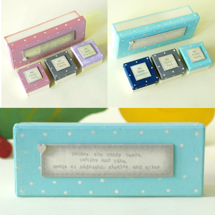 Baby Keepsake boxes by East of India