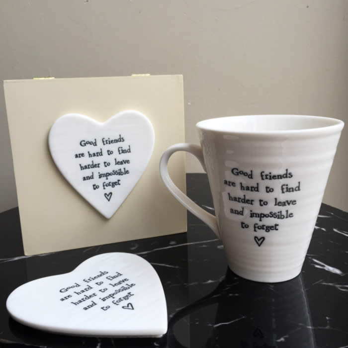 Good Friends Mug with Wooden Gift Box buy online UK