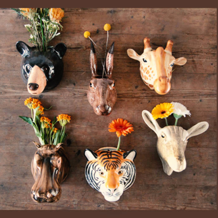 Animal Wall Vase by Quail Ceramics buy online UK