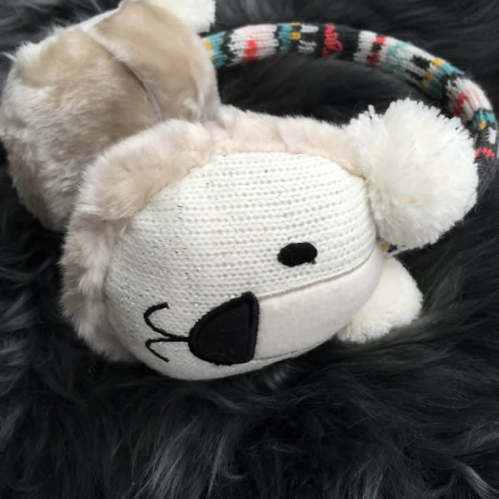 Polar Bear Ear Muffs with heated gel packs, buy online UK