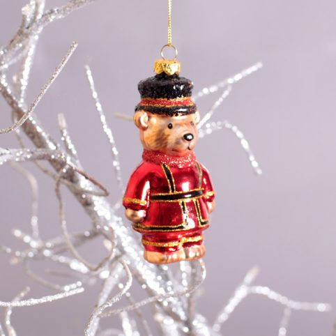 Gisela Graham Beefeater Teddy Christmas Decoration - Buy Online UK Free Delivery