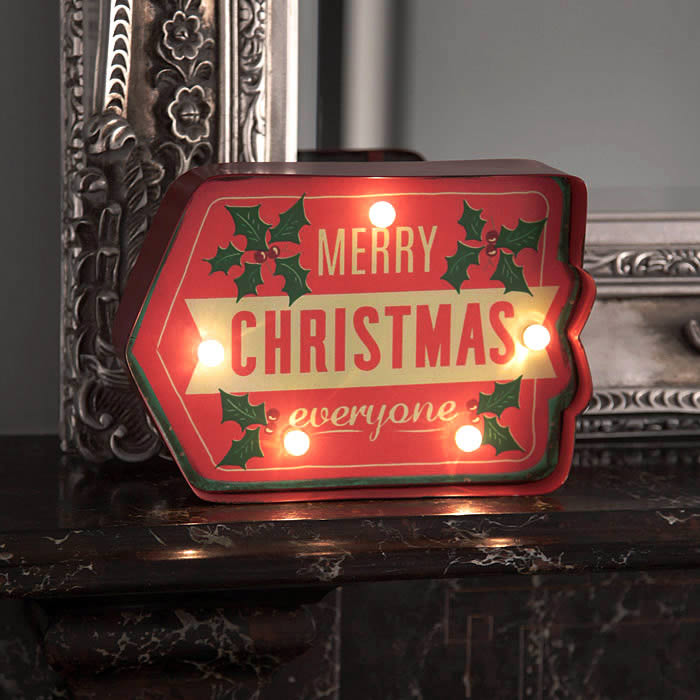 Christmas Lighted Sign.Merry Christmas Lighted Sign
