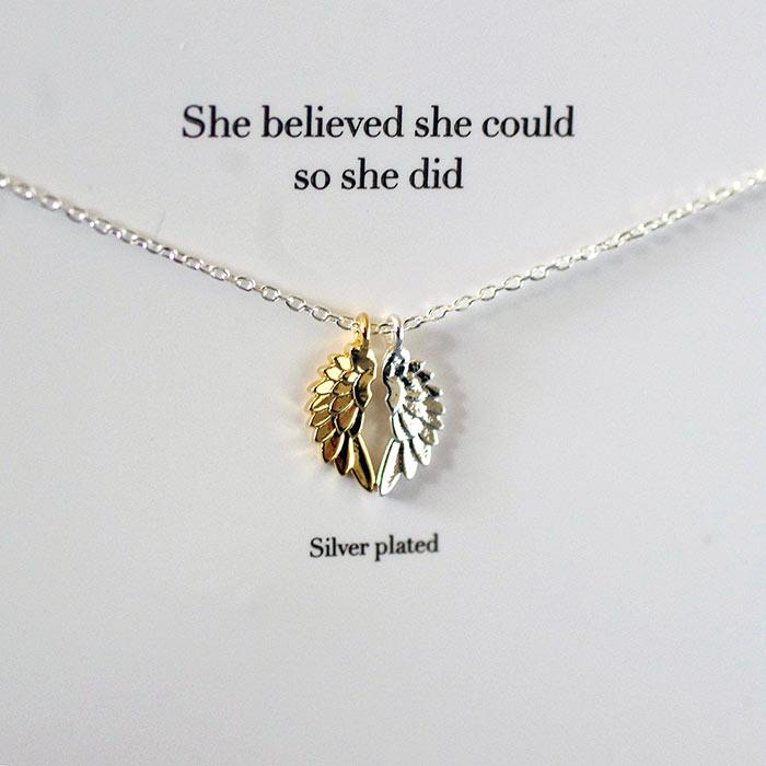 Estella Bartlett Angel Wings Necklace