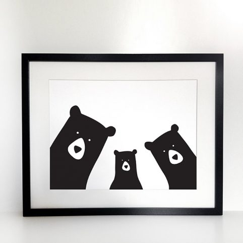 Bear Family Print - Order in now and get Free UK Delivery