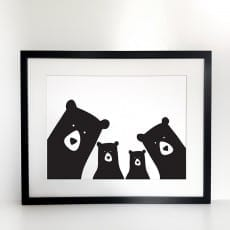 Framed Bear Selfie Print - Buy Online, Free UK Delivery
