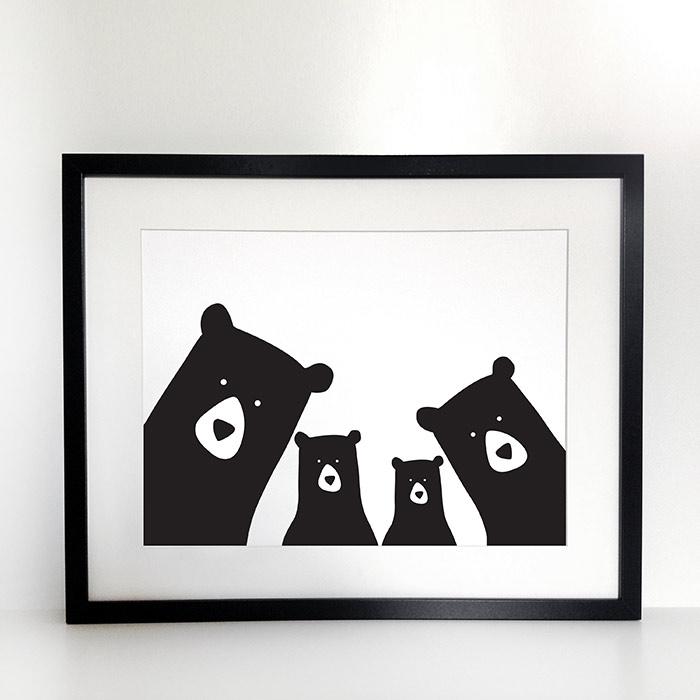Framed Bear Selfie Print - Buy Online, Free UK Delivery