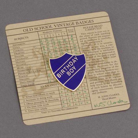 Old School Birthday Boy Badge
