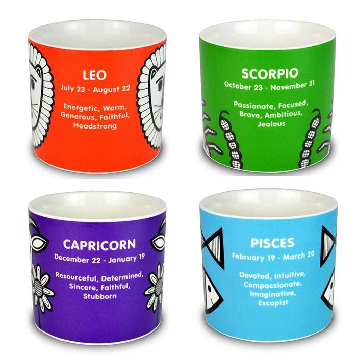 Horoscope Mugs with Personality Characteristics