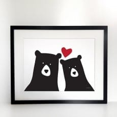 Bear Art Print - Heather Alstead Design (£25)