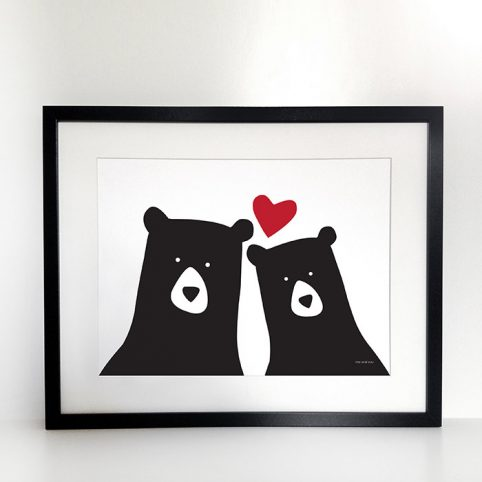 Heather Alstead Bear Art Print - Free UK Delivery